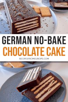 German No-Bake Chocolate Cake Pin