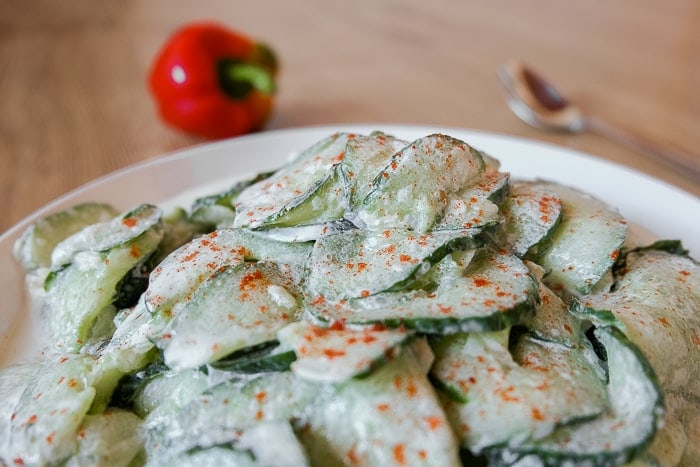 Hungarian Cucumber Salad | Recipes From Europe