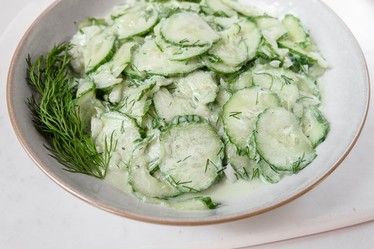 Classic German Cucumber Salad (Gurkensalat) | Recipes From Europe